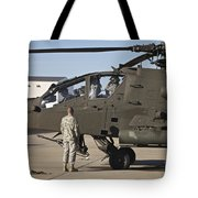 Pilots Prepare For Their Mission In An Tote Bag