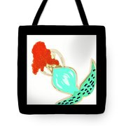 Pin Up Redhead Mermaid Tote Bag