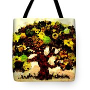 Pinatamiche Tree Painting In Crackle Paint Tote Bag