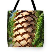 Pine Cone Art Prints Pine Tree Artwork Baslee Troutman Tote Bag