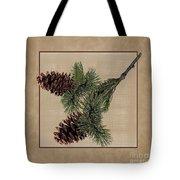 Pine Cone Design Tote Bag