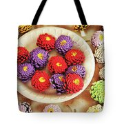 Pine Cone Flower Project Tote Bag