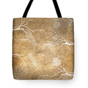 Pine Cone Shadows Tote Bag