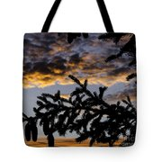 Pine Cone Sunset Tote Bag