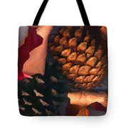 Pine Cones And Leaves Tote Bag