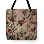 Pine Cones And Spruce Branches Tote Bag