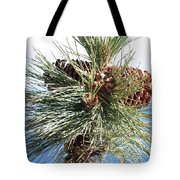 Pine Cones Over Lake Tahoe Tote Bag
