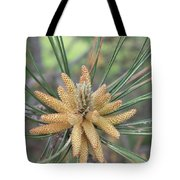 Pine Flower In Summer  Close Up Tote Bag