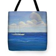 Pine Island Sailboat Tote Bag