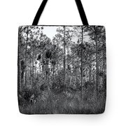 Pine Land In B/w Tote Bag by Rudy Umans