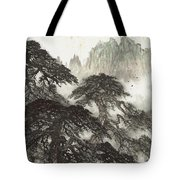 Pine Landscape Mountain Tote Bag