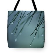 Pine Needle Raindrops Tote Bag