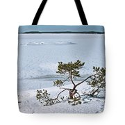 Pine On A Rock Tote Bag
