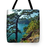 Pine Over The Bay Tote Bag