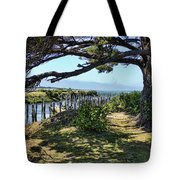 Pine Pilings And Mist Tote Bag