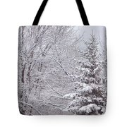 Pine Tree - Winter Scene Tote Bag
