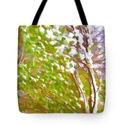 Pine Tree Covered With Snow Tote Bag by Lanjee Chee