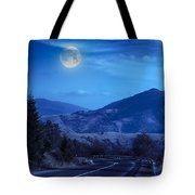 Pine Trees Near Valley In Mountains And Autumn Forest On Hillsid Tote Bag