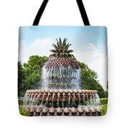 Pineapple Fountain In Charleston South Carolina Tote Bag