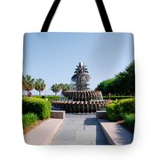 Pineapple Fountain In Charleston Tote Bag