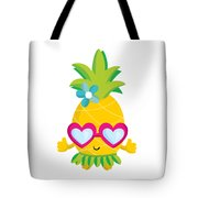 Pineapple Hula Tote Bag