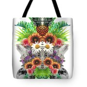 Pineapples And Crystals Tote Bag