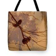 Pinecone Overlay Bright Horizontal Tote Bag