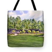 Pinehurst Golf Course 17th Hole Tote Bag by Bill Holkham