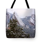 Pines And Flatirons Boulder Colorado Tote Bag