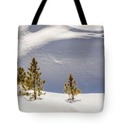 Pines In The Snow Drifts Tote Bag