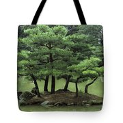 Pines On Island In The Gardens Tote Bag
