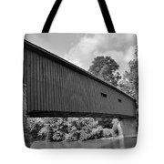Pinetown Bushong's Covered Bridge Black And White Tote Bag