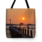 Piney Point Sunrise Tote Bag