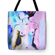 Pink Abstract Nude Tote Bag