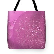 Pink Abstract Of Oil Droplet.  Tote Bag