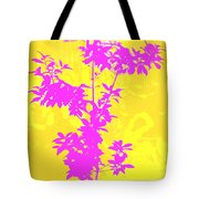 Pink Abstract Tree Tote Bag