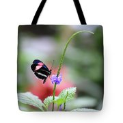 Pink And Blue Butterfly Tote Bag