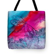 Pink And Blue Dragonflies Tote Bag