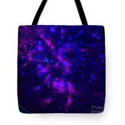 Pink And Blue Moss Fractal Tote Bag