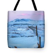 Pink And Blue Sunset Tote Bag