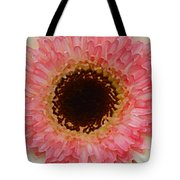Pink And Brown Gerber Center Tote Bag