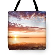 Pink And Gold Morning Zen - Toronto Skyline Impressions Tote Bag