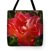 Pink And Gold Rose Tote Bag
