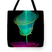 Pink And Green Composition Tote Bag