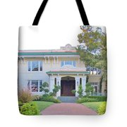 Pink And Green Mansion Tote Bag