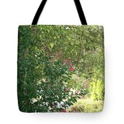 Pink And Green Path Tote Bag