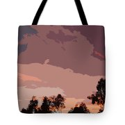 Pink And Mauve Sky Abstract Tote Bag
