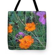 Pink And Orange Merger Tote Bag