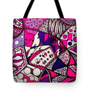 Pink And Purple Abstract Tote Bag