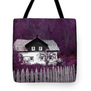 Pink And Purple Enchanted Cottage Tote Bag